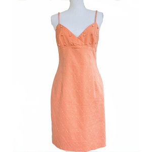 Laundry soft orange size 8 short orange dress